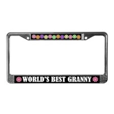 Worlds Best Granny License Plate Frame