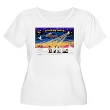 X-Sunrise-Five Siamese T-Shirt