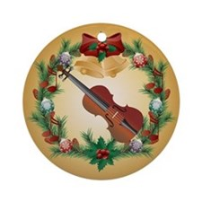 Violin Holiday Christmas Ornament