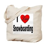 I Love Snowboarding Tote Bag