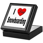 I Love Snowboarding Keepsake Box