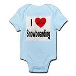 I Love Snowboarding Infant Creeper