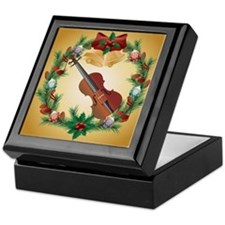 Violin Christmas Music Keepsake Box