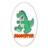 Monster Oval Decal