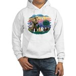 St Francis (ff)-7 Cats Hooded Sweatshirt