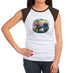 St Francis (ff)-7 Cats Women's Cap Sleeve T-Shirt
