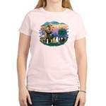 St Francis (ff)-7 Cats Women's Light T-Shirt