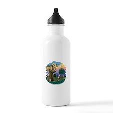 St Fran (ff) - Brown Tabby Cat Water Bottle