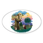 St. Fran (ff) - Maine Coon (#9) Sticker (Oval 10 p