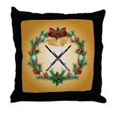 Bassoon Christmas Music Throw Pillow