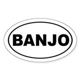 Banjo Music Decal