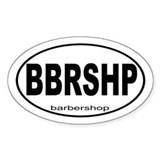 Barbershop Music Decal