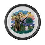 St. Fran. (FF) - Ragdoll (LynxPt) Large Wall Clock