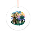 St. Fran. (FF) - Ragdoll (LynxPt) Ornament (Round)