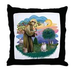 St. Fran. (FF) - Ragdoll (LynxPt) Throw Pillow