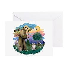 St. Fran. (FF) - Ragdoll (LynxPt) Greeting Card