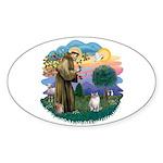 St. Fran. (FF) - Ragdoll (LynxPt) Sticker (Oval 10