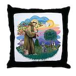 St Fran (ff) - Russian Blue (#2) Throw Pillow