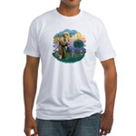 St Fran (ff) - Russian Blue (#2) Fitted T-Shirt