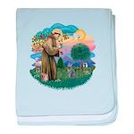 St Fran (ff) - Russian Blue (#2) Infant Blanket