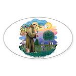 St Fran (ff) - Russian Blue (#2) Sticker (Oval 10