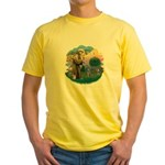 St Fran (ff) - Russian Blue (#2) Yellow T-Shirt