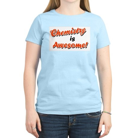 Chemistry Is Awesome Women's Pink T-Shirt