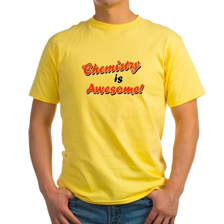 Chemistry Is Awesome Yellow T-Shirt