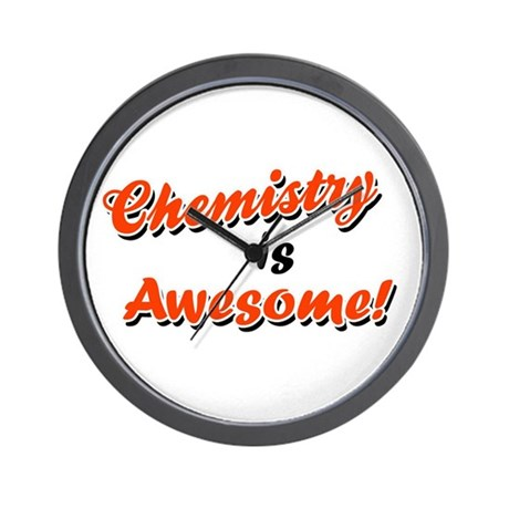 Chemistry Is Awesome Wall Clock