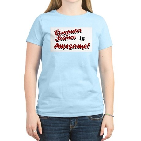 Computer Science Is Awesome Women's Pink T-Shirt