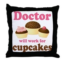 Funny Doctor Throw Pillow