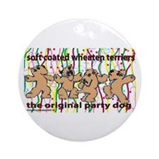 Party Wheaten Ornament (Round)