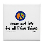 War Peace symbol Tile Coaster