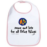 War Peace symbol Bib