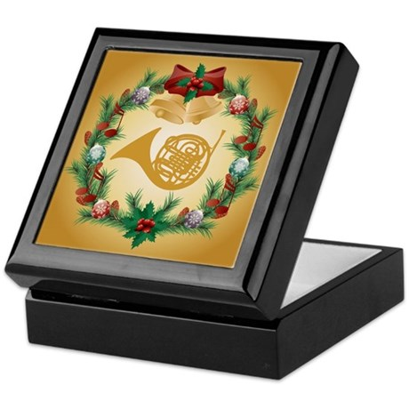 French Horn Christmas Music Keepsake Box