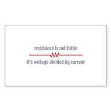 Resistance Rectangle Decal