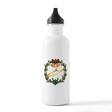 Christmas Trombone Music Water Bottle