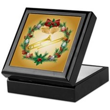 Christmas Trombone Music Keepsake Box