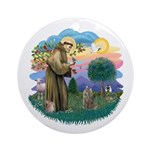 St Fran (f)-Norw. Forest Ornament (Round)