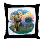 St Fran (f)-Norw. Forest Throw Pillow