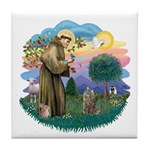 St Fran (f)-Norw. Forest Tile Coaster