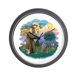 St Fran (f)-Norw. Forest Wall Clock