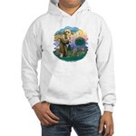 St Fran (f)-Norw. Forest Hooded Sweatshirt