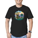 St Fran (f)-Norw. Forest Men's Fitted T-Shirt (dar