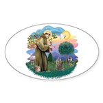St Fran (f)-Norw. Forest Sticker (Oval 10 pk)