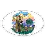 St Fran (f)-Norw. Forest Sticker (Oval 10 pk)