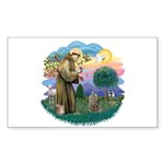 St Fran (f)-Norw. Forest Sticker (Rectangle 10 pk)