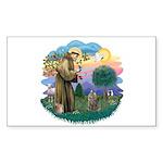 St Fran (f)-Norw. Forest Sticker (Rectangle 10 pk)