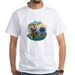 St Fran (f)-Norw. Forest White T-Shirt