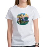 St Fran (f)-Norw. Forest Women's T-Shirt